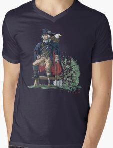 GEORGE WASHINGTON FOUNDING PIRATE FATHER Mens V-Neck T-Shirt
