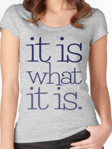 it is what it is. Women's Fitted Scoop T-Shirt