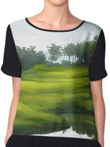 Green park by lake Chiffon Top