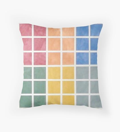 Washington DC Metro Colors Throw Pillow