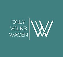 ONLYVOLKSWAGEN LOGO (TIFFANY BLUE/TEAL) by ONLY VOLKSWAGEN