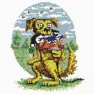 8-BIT DOG HUNTS DUCK by MudgeStudios