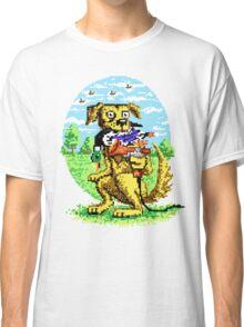 8-BIT DOG HUNTS DUCK Classic T-Shirt