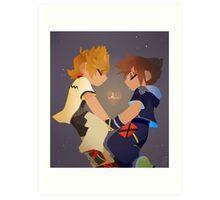 Sora & Roxas- Heartbeat Art Print
