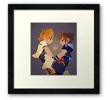 Sora & Roxas- Heartbeat Framed Print