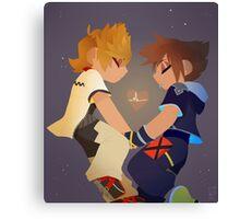 Sora & Roxas- Heartbeat Canvas Print