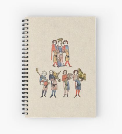 Medieval Courtly People Spiral Notebook