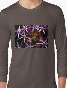 Starry Allium Abstract Long Sleeve T-Shirt
