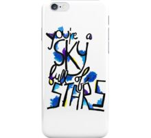 Sky Full of Stars (painted) iPhone Case/Skin