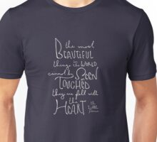 The Most Beautiful Things - The Little Prince Quote Unisex T-Shirt