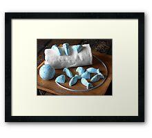 Blue Fish Bath Bombs Framed Print