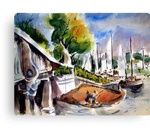 Lido Isle Bridge, Newport Beach Canvas Print