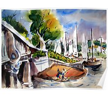 Lido Isle Bridge, Newport Beach Poster
