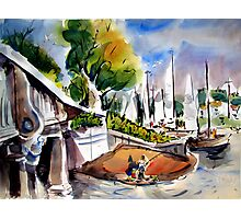 Lido Isle Bridge, Newport Beach Photographic Print