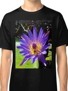 Purple water lily vertical view Classic T-Shirt