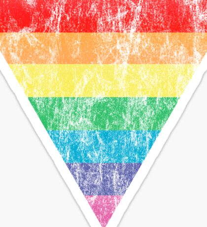 rainbow triangle Sticker