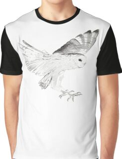 Owl in Flight Graphic T-Shirt