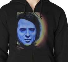 Pale Blue Dot Zipped Hoodie