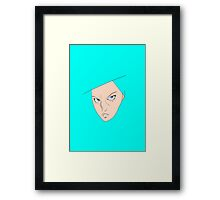 THE CHICK STARE Framed Print