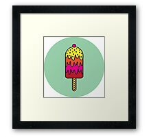 Freaky Ice Cream Framed Print