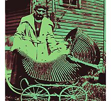 vintage baby carriage Photographic Print