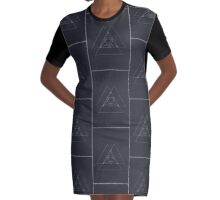 TRIANGLE INTERSECTION Graphic T-Shirt Dress