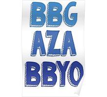 BBG AZA BBYO: Blue Poster