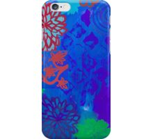 Indigo Zen multi-patterned stenciled blue print  iPhone Case/Skin