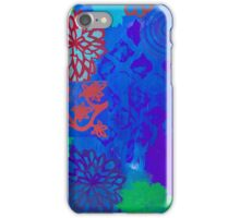 Indigo Zen multi-patterned stenciled blue print  iPhone Case/Skin