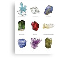 Gemstone Chart Canvas Print