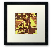 Yellow Wagon Play time Framed Print