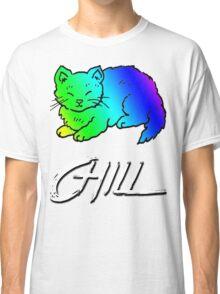 Chill Cat Rainbow Classic T-Shirt
