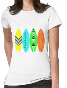Colorful Surfboards Womens Fitted T-Shirt
