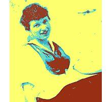 Yellow gal vintage Photographic Print