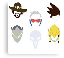 overwatch offense icons Canvas Print