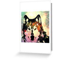 Night Wolf Greeting Card