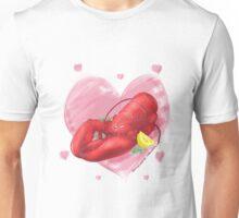Lobster hart Unisex T-Shirt