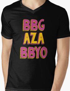 BBG AZA BBYO: Pink/Gold Mens V-Neck T-Shirt