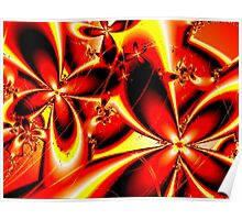 Flaming Red Flowers Poster