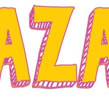 BBG AZA BBYO: Pink/Gold Sticker