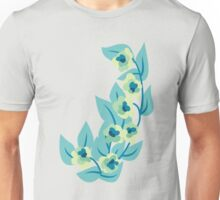 Green Flowers and Leaves Floral Print Unisex T-Shirt