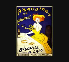 'Amandines de Provence' by  Leonetto Cappiello (Reproduction) Womens Fitted T-Shirt