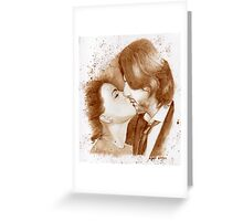 FLana Coffee Paint Greeting Card