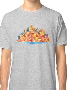 Colorful Geometric Watercolor Mountain Range Classic T-Shirt