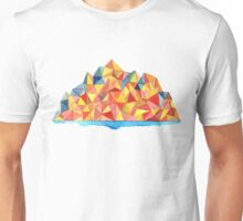 Colorful Geometric Watercolor Mountain Range Unisex T-Shirt