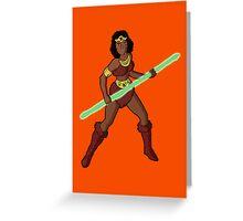 Diana The Acrobat Greeting Card