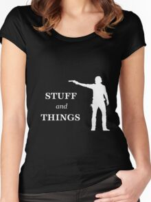 Rick Grimes - Stuff and Things Women's Fitted Scoop T-Shirt