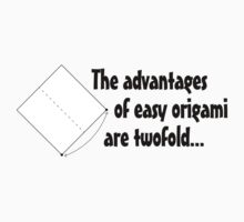 The advantages of easy origami are twofold. Kids Clothes