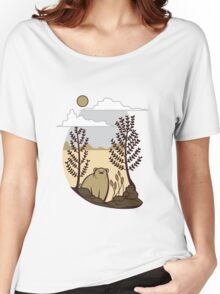 Cute Simple Bear in the Forest  Women's Relaxed Fit T-Shirt