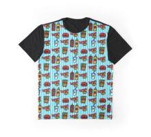 Wolf Burger Pattern Graphic T-Shirt